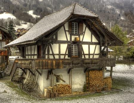 старый дом хлев